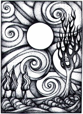 Swirly Moon Night ACEO by TapWaterTaffy on DeviantArt