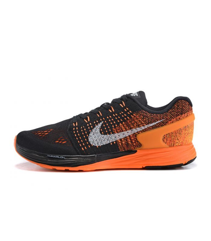 san francisco 7881c b3009 ... promo code for nike lunarglide 7 black orange running shoes eca5e 3c016