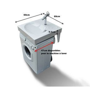 lavabo gain de place pour machine laver gpm1 studio en 2019 lavabo salle de bain et. Black Bedroom Furniture Sets. Home Design Ideas