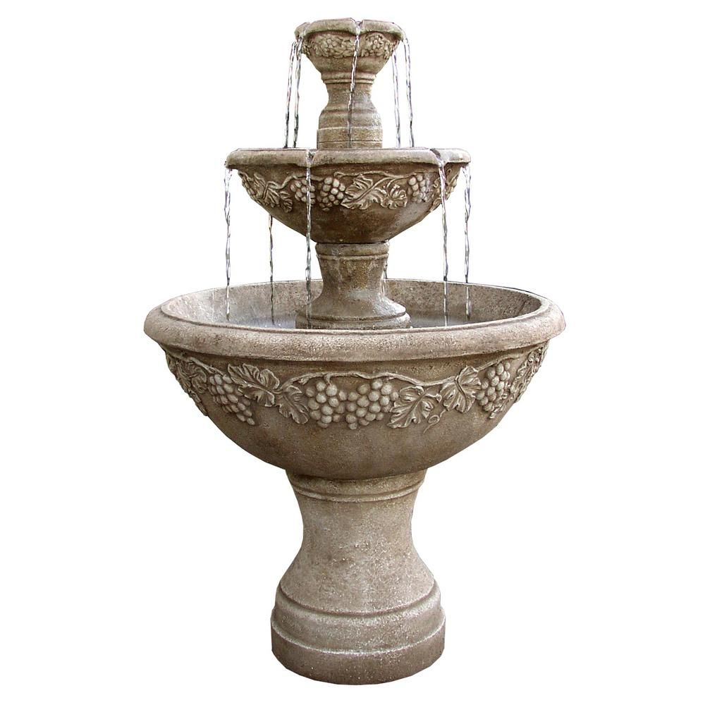 Patio Furniture Consignment Fountain Valley: Florence Florence TruCast Napa Valley Tiered Fountain-7507