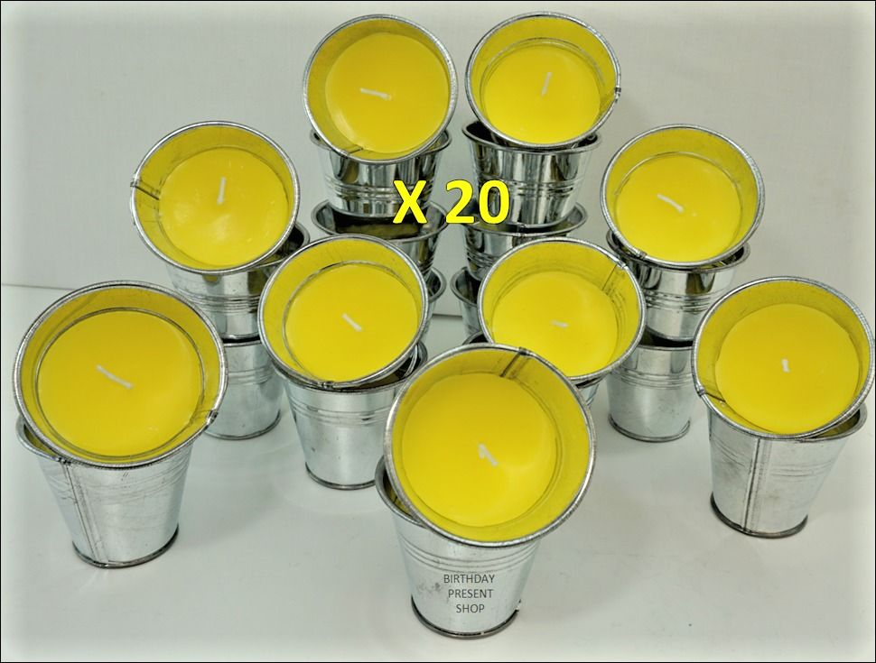 20 Citronella Mini Bucket Candle garden outdoor holiday BARBECUE JOB LOT BUNDLE