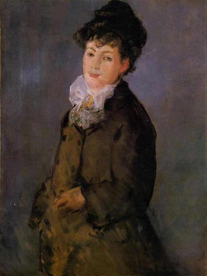 Isabelle Lemonnier con un pañuelo blanco 1879