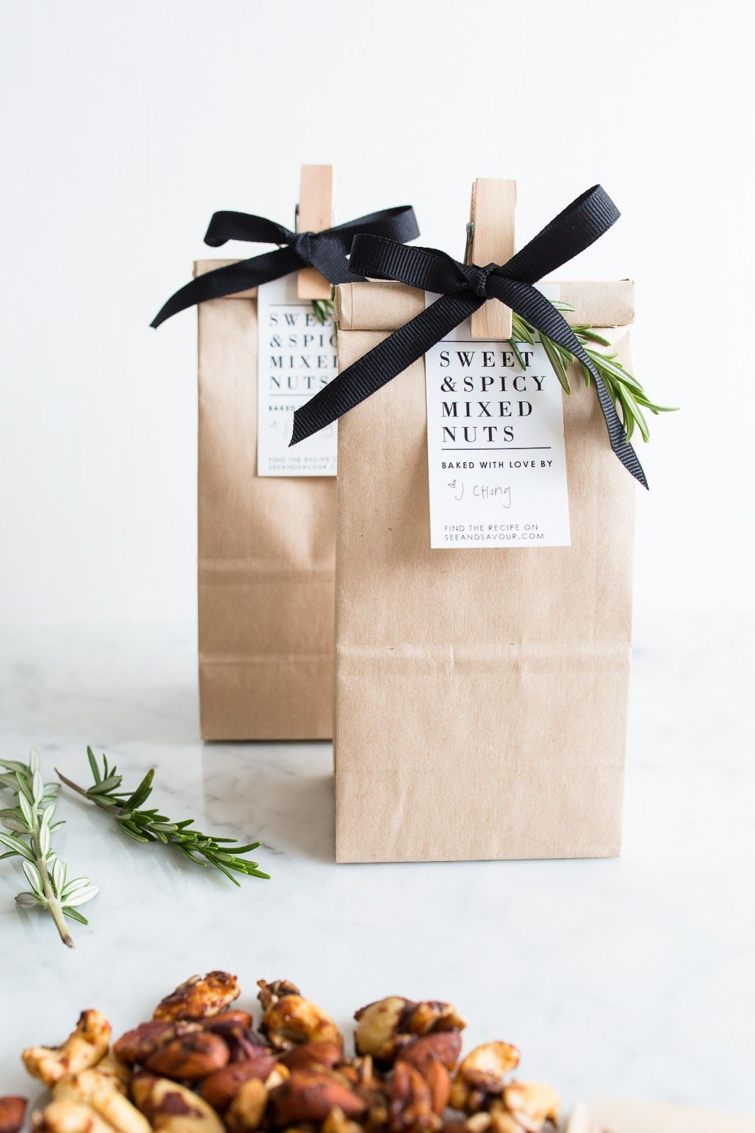 Sweet and Spicy Mixed Nuts | Wraps, Gift and Packaging ideas