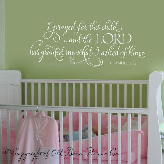 i prayed for this child scripture vinyl wall decal vinyl