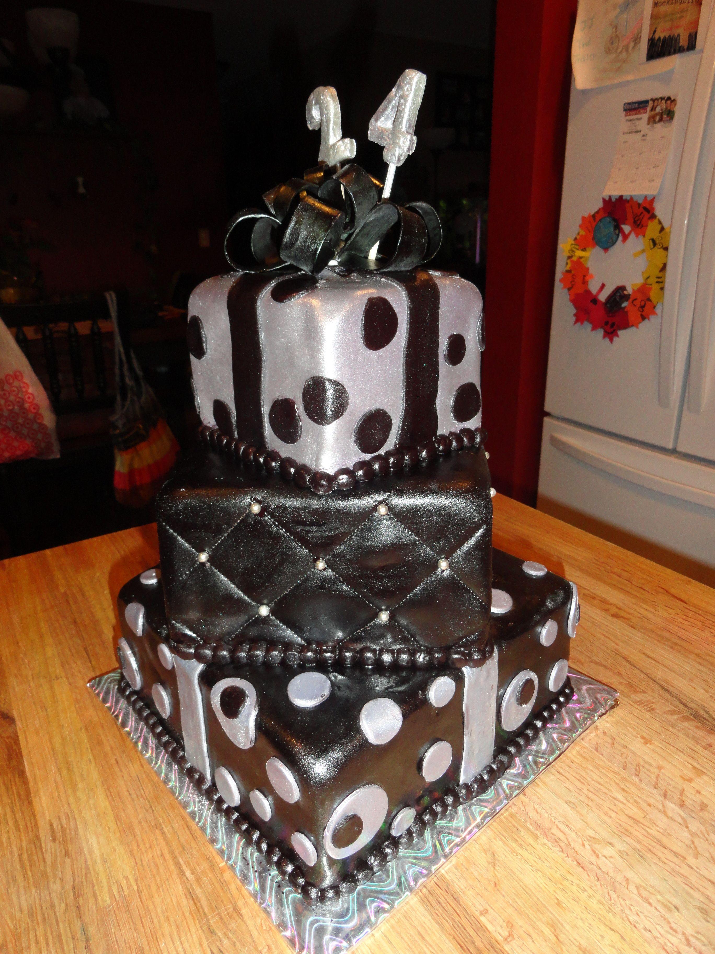 Black And Silver Birthday Cumple Engel Pinterest Black Tops