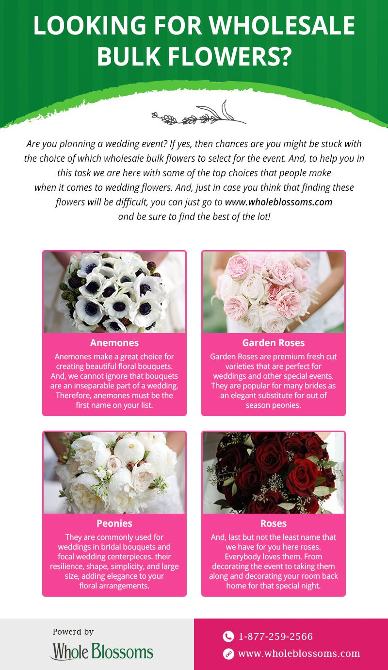 This infographic provides information about the different flowers ...
