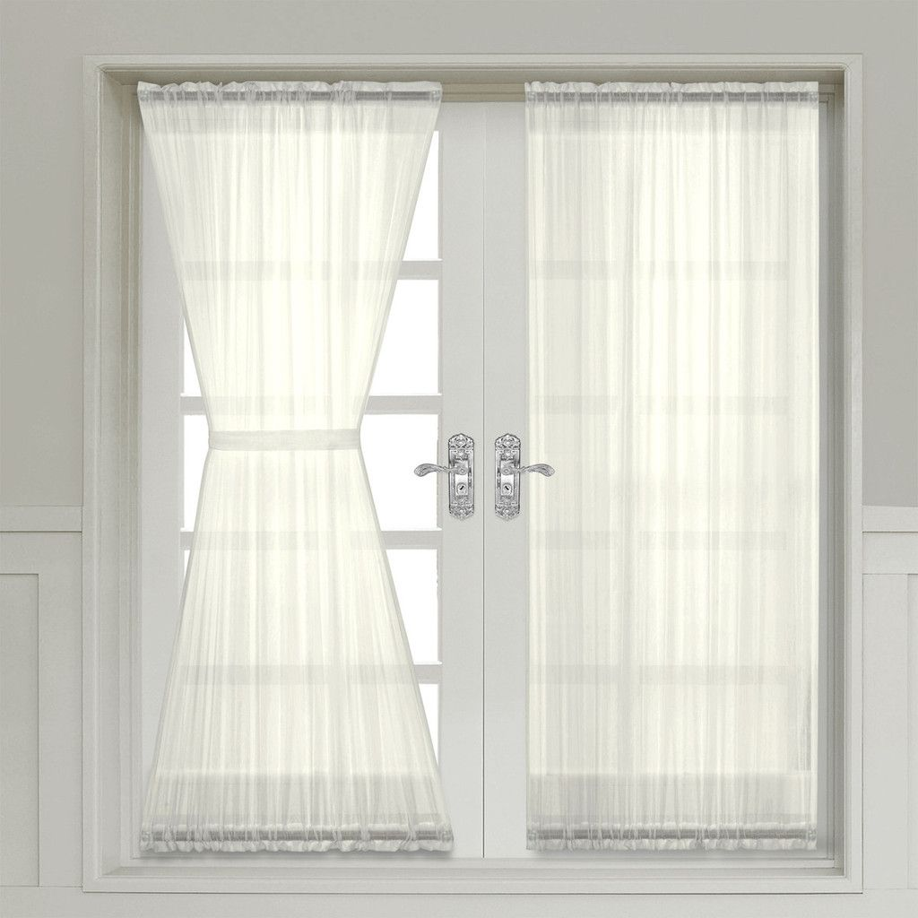 sheer curtain panels for french doors