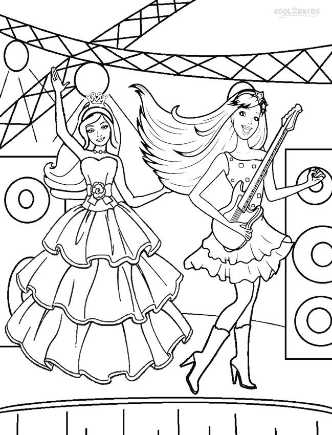 Printable Barbie Princess Coloring Pages For Kids | Cool2bKids ...