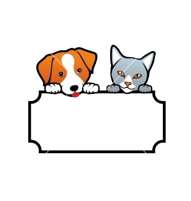 Dog and Cat on VectorStock