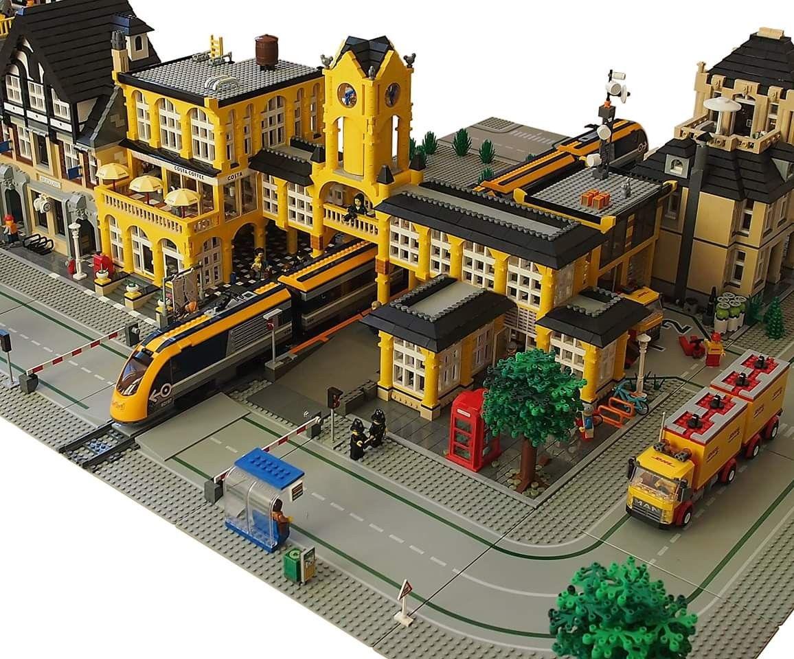 Modular Lego Moc Train Station - Year of Clean Water