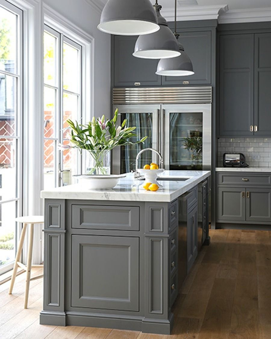 15 Stunning Gray Kitchens Kitchen Design Transitional House Charming Kitchen