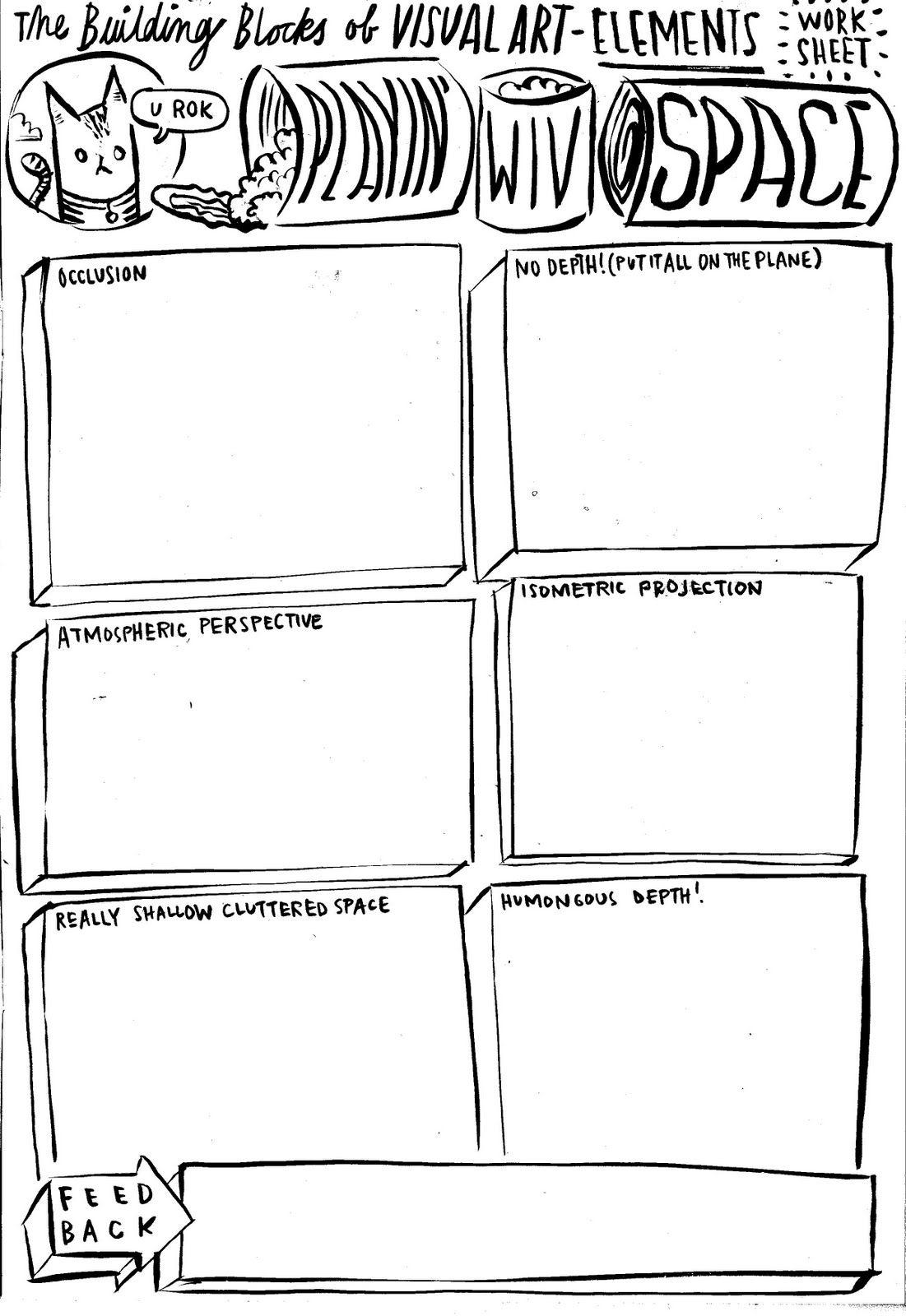 Dan Haycocks Space Sheet Art Basics Art Worksheets High School Art Lessons