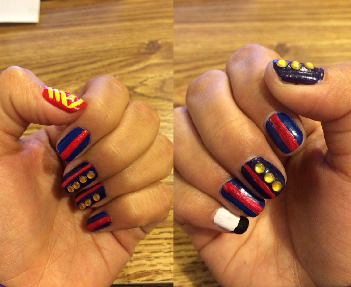 United States Marine Corp nail art. Honoring all Marines, present ...