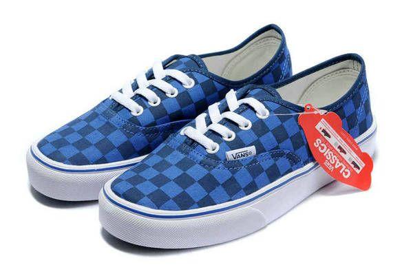 852611e050 Vans Authentic Checkerboard AW Robots Blue Black Skate Shoes  16  -  39.99    Vans Shop