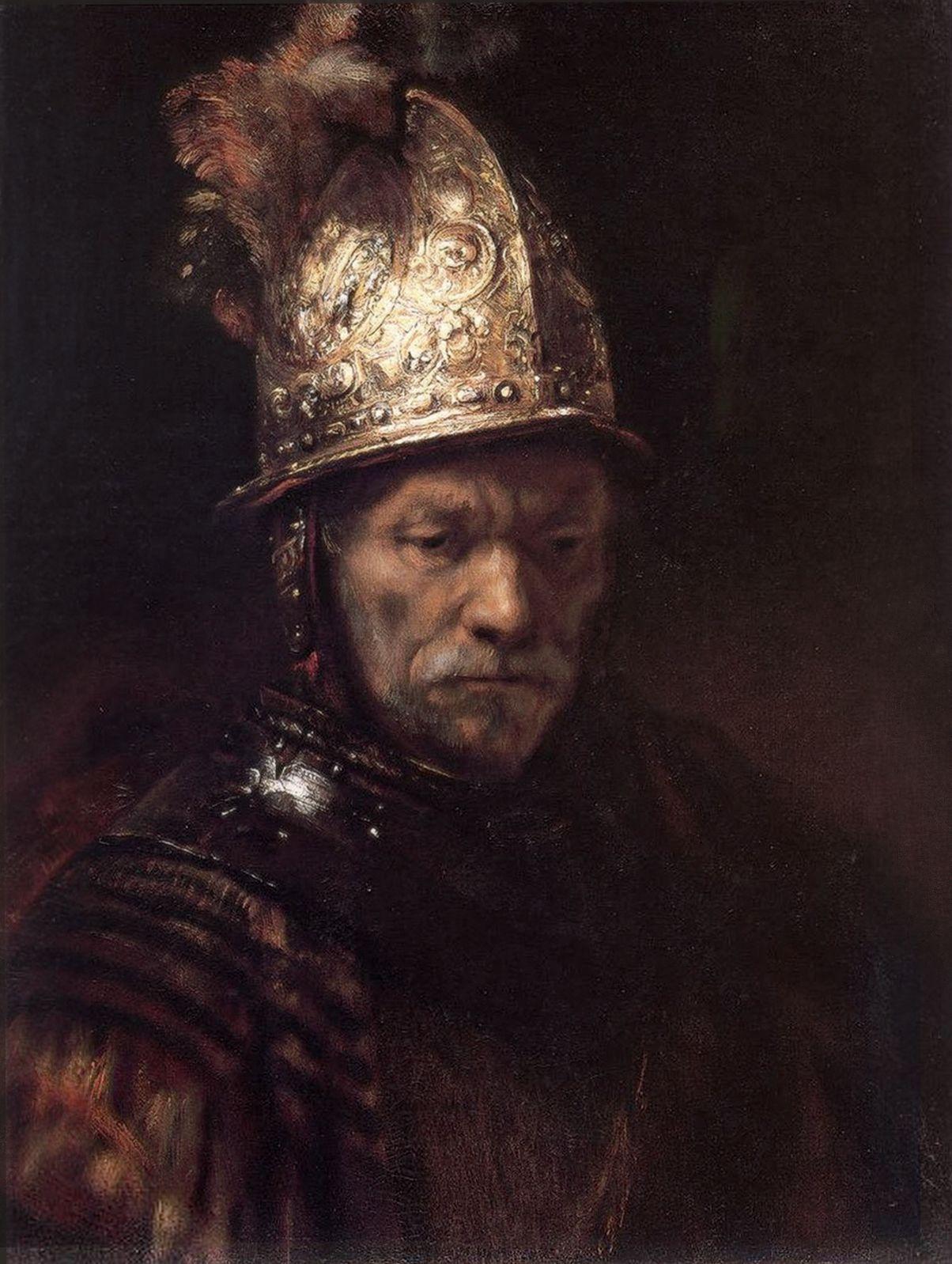 """CONTRASTE CLAIR-OBSCUR """"L'homme au casque d'or"""" Rembrandt ..."""