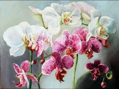 How To Paint Orchids With Acrylics Tutorial