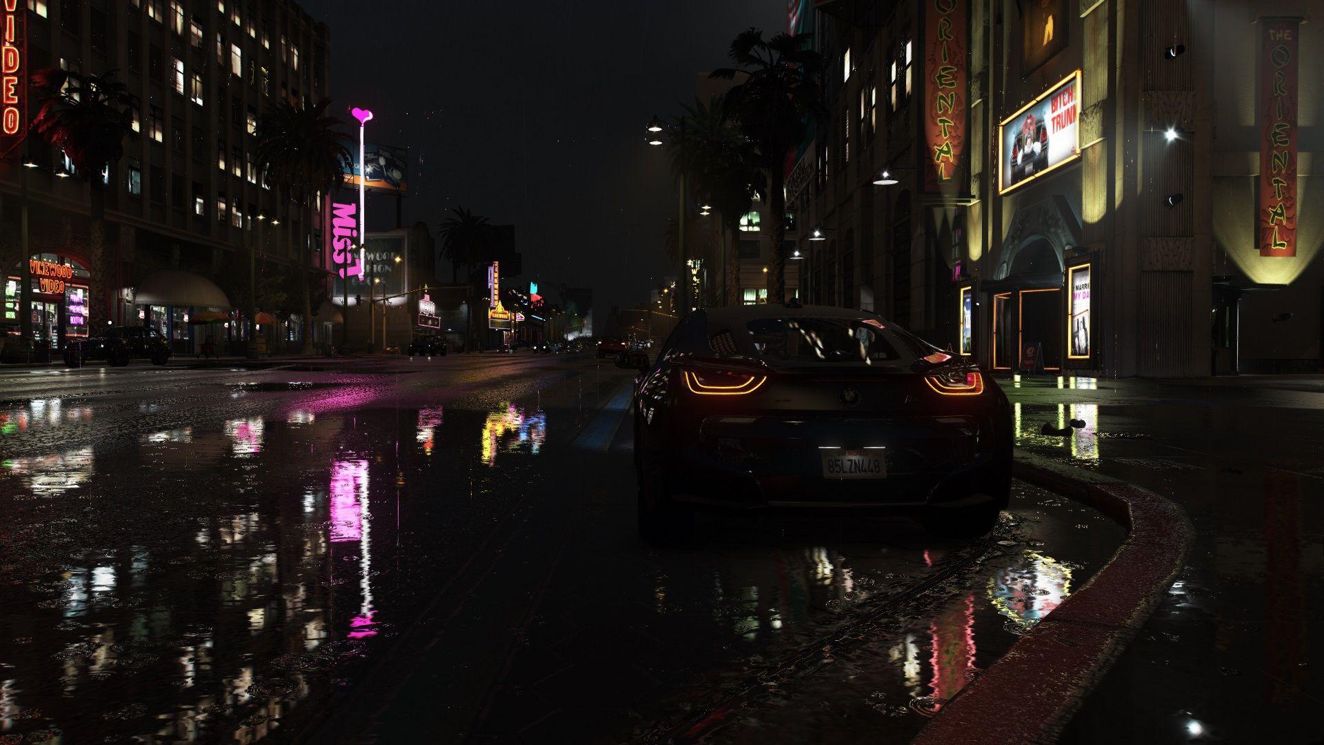 Gta 5 Downtown Hollywood 1920x1080 Car Is A Bmw I8 Bmw I8 Gta 5 Gta