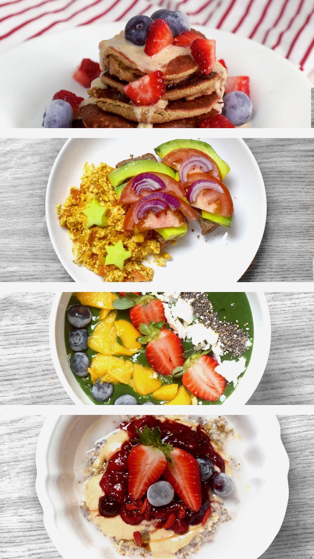 1 Semana Inteira De Cafes Da Manha Vegano Proteico Com Imagens