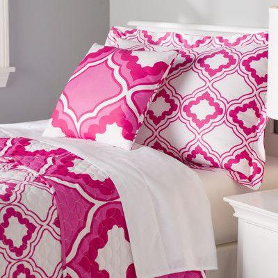 Zipcode Design Sarah Quilt Size: Full/Queen XL, Color: Pink