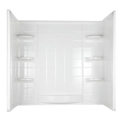 Indulgence 30 In X 60 In X 59 1 4 In 3 Piece Direct To Stud Tub Wall In White 39234 At The Home Depot Bathtub Walls Bathtub Decor Bathtub Wall Surround