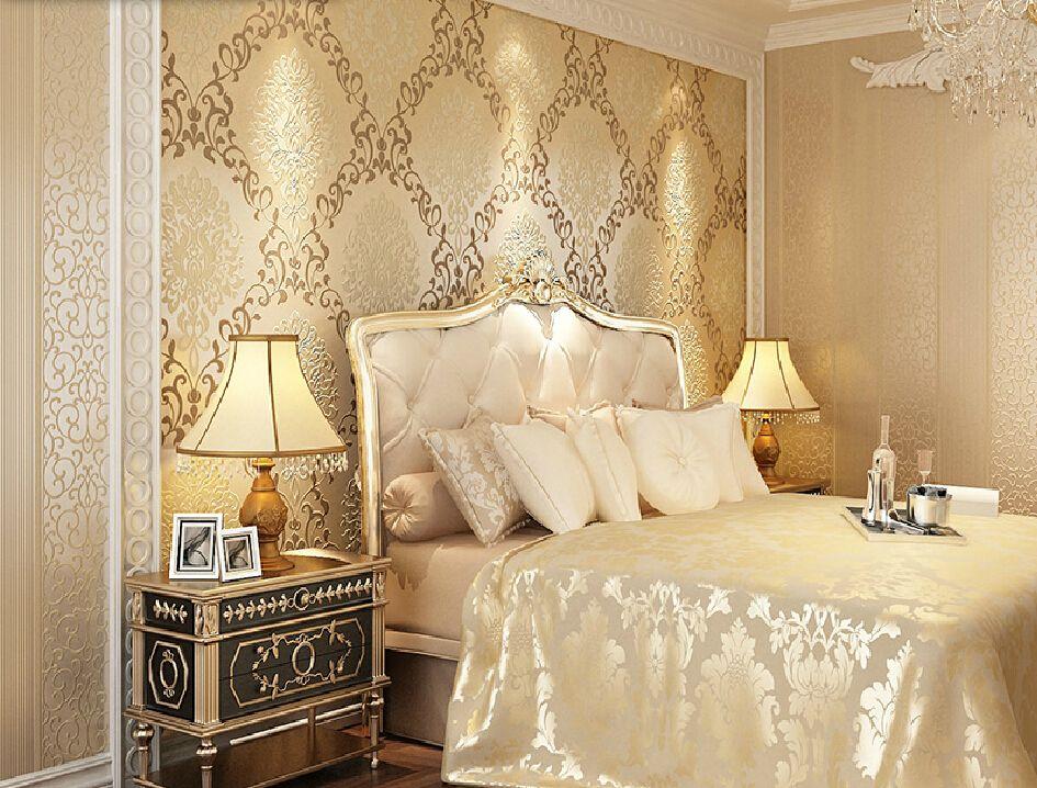 wallpaper desain interior kamar tidur ber a vintage