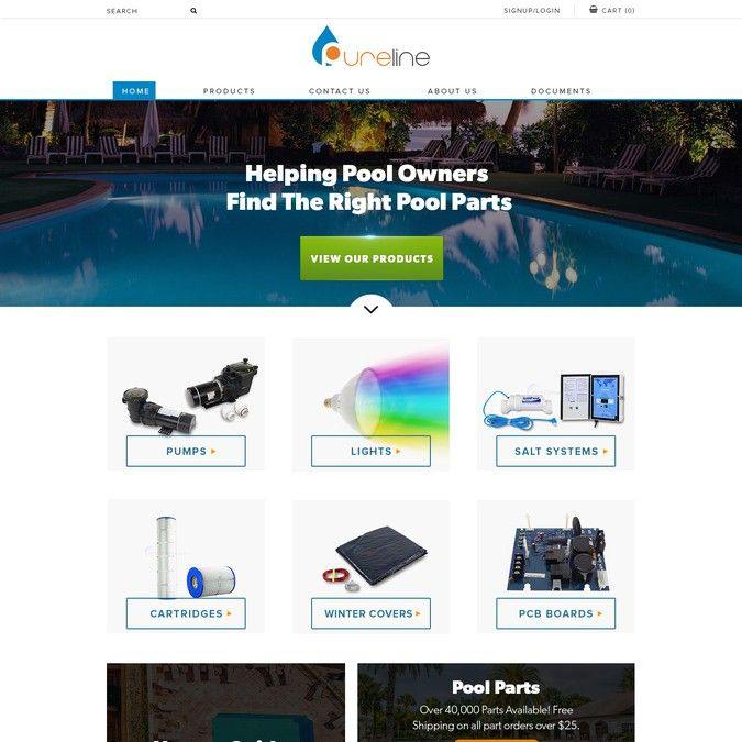 Design a Cool Word Press Theme for Swimming Pool Products Website by mel d' web carpenter