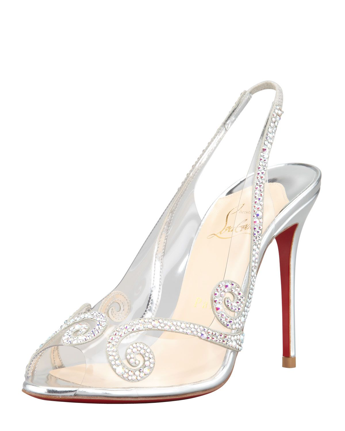 520aba96f85 Pin by ganfang ganfang on test | Shoes, Clear heel shoes, Christian ...