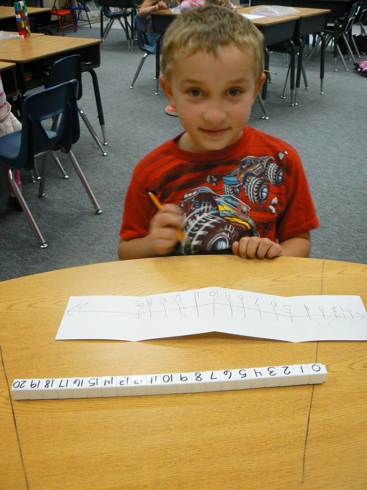 Mrs T S First Grade Class Number Track