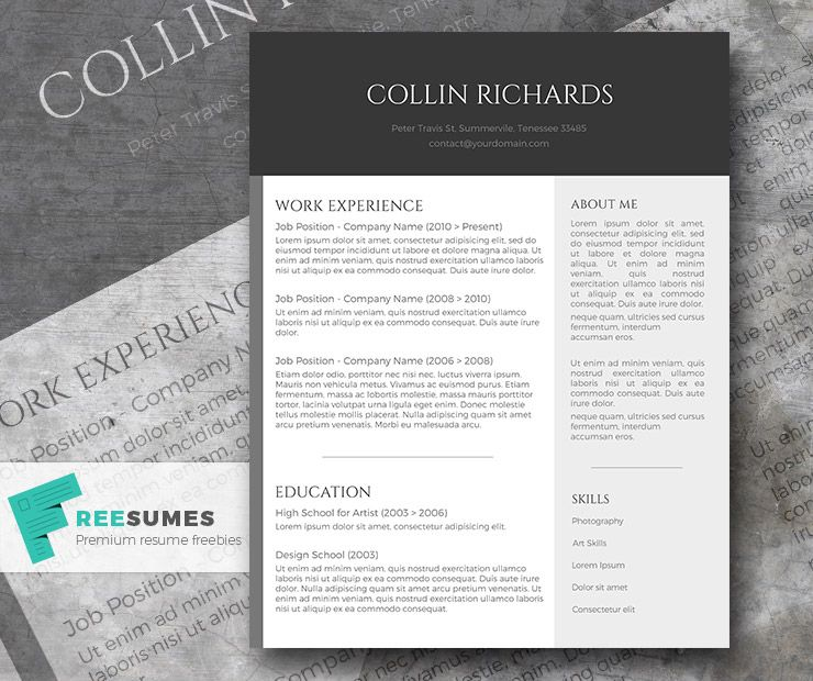 simple modern resume template free - Yelommyphonecompany