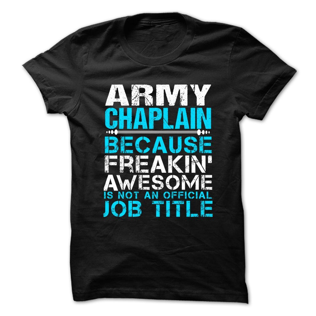 Army Chaplain Because Freaking Awesome Is Not An Official Job