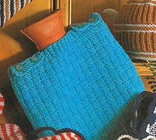 Hot Water Bottle Cover pattern by Marriner Yarns