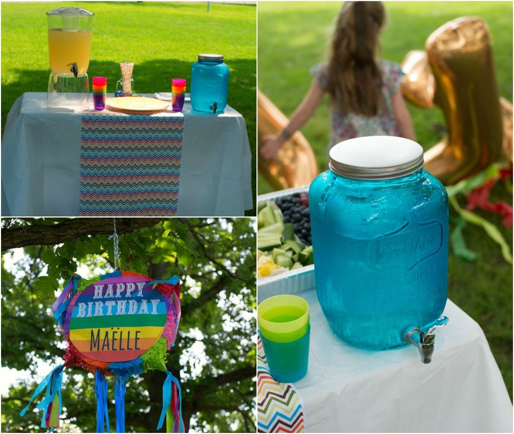 #rainbow Themed Birthday Party Idea With Adorable #chevron