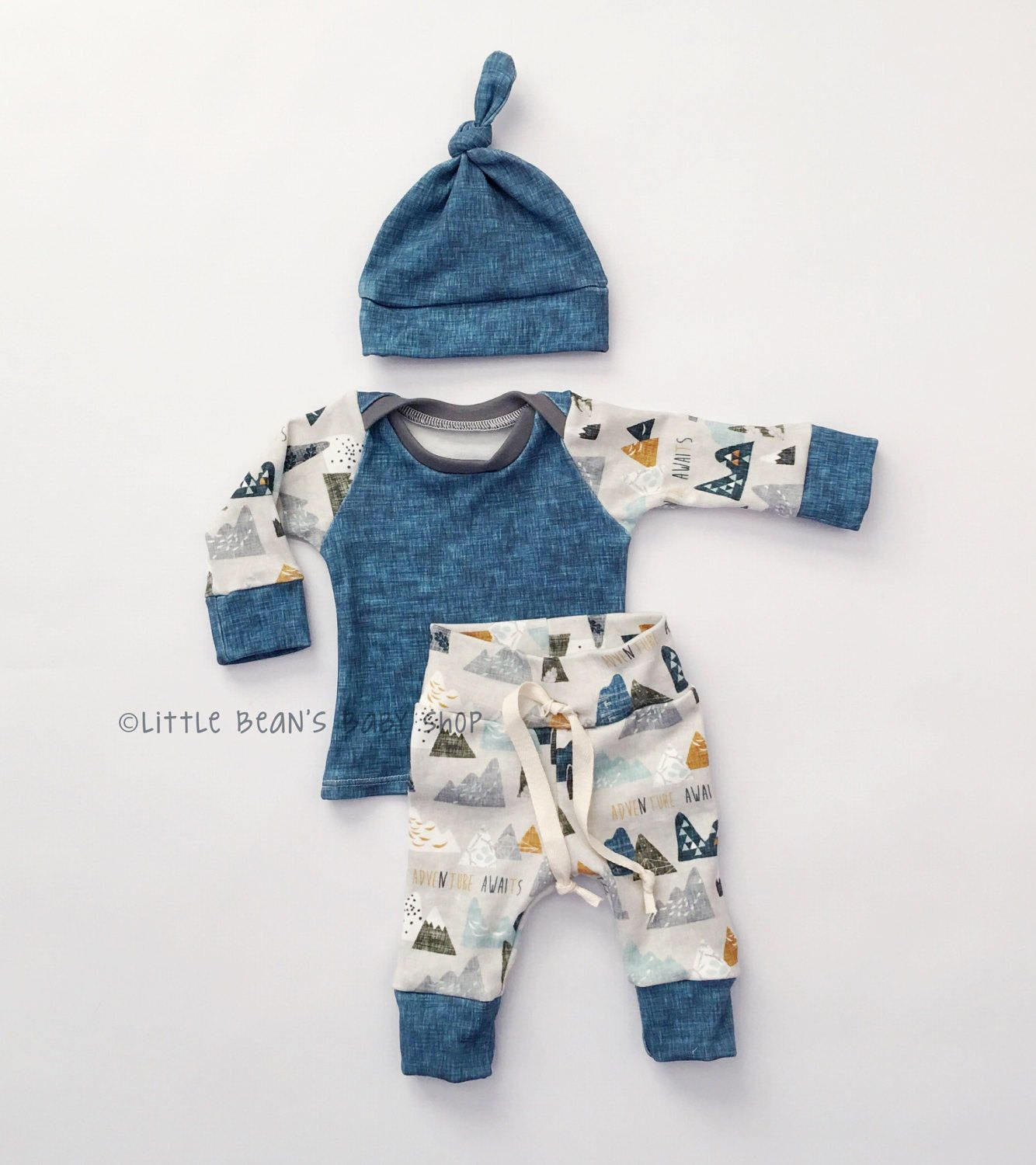Baby boy take home outfit // baby boy coming home outfit // handmade ...