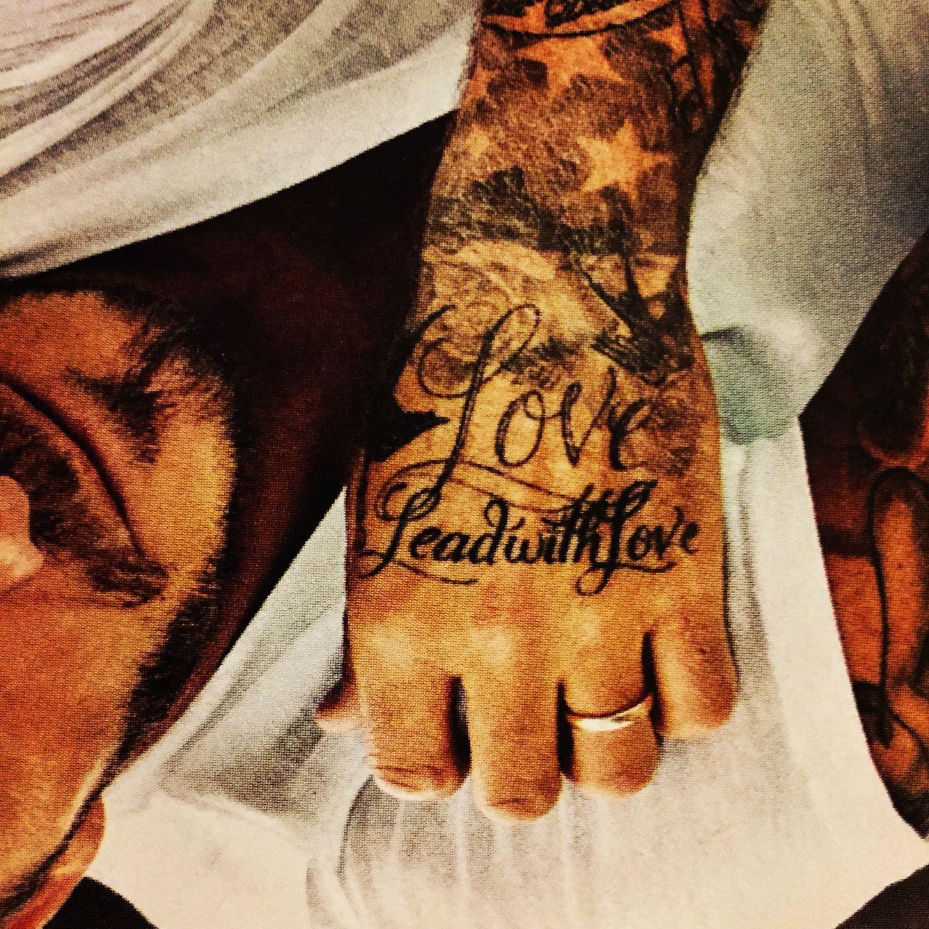 Lead With Love David Beckham Tattoo Wild Heart Living