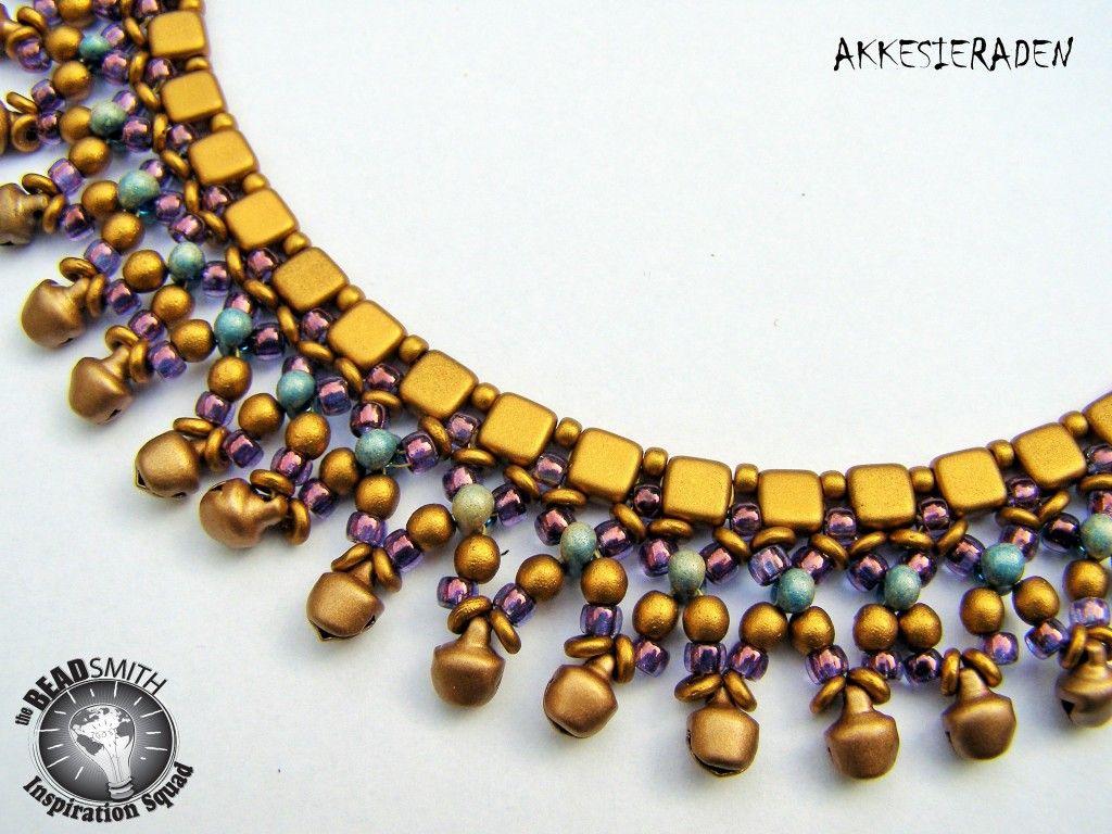 Necklace With Little Bells Czechmates Tiles Farfalles