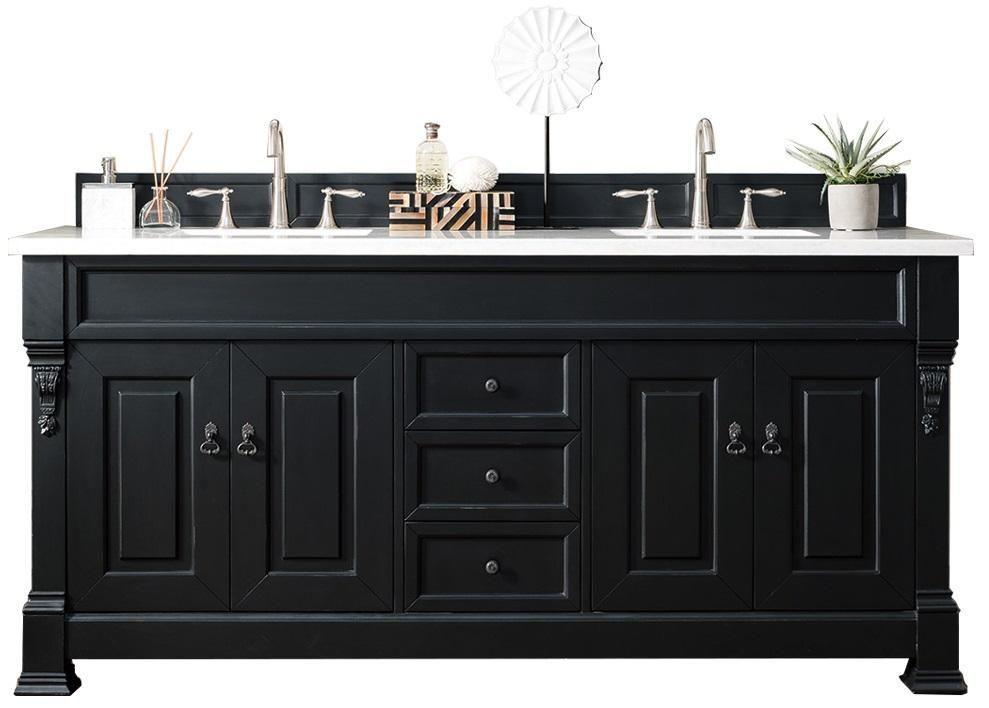 72 Brookfield Antique Black Double Bathroom Vanity Martin