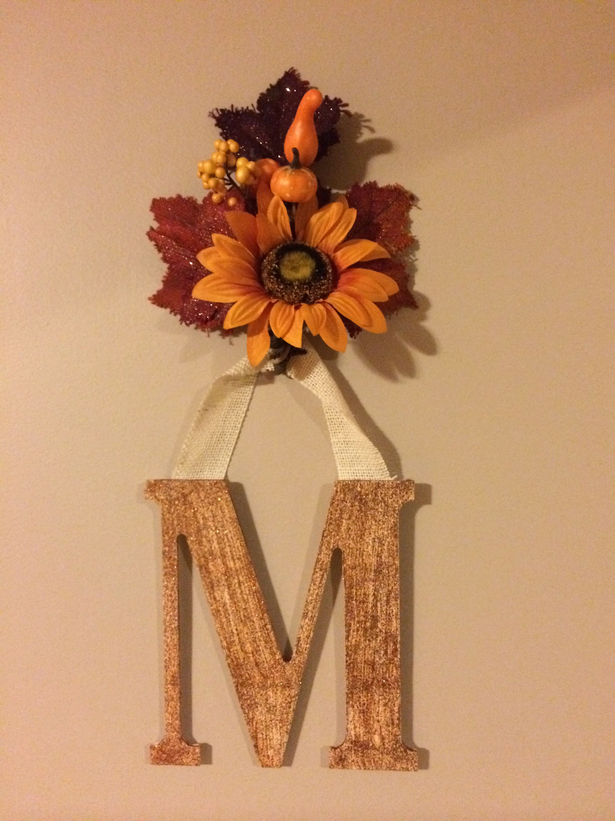Fall monogram decor paint your wooden monogram string burlap to a