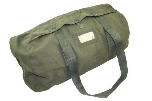 Vintage Military Canvas Duffel Bag