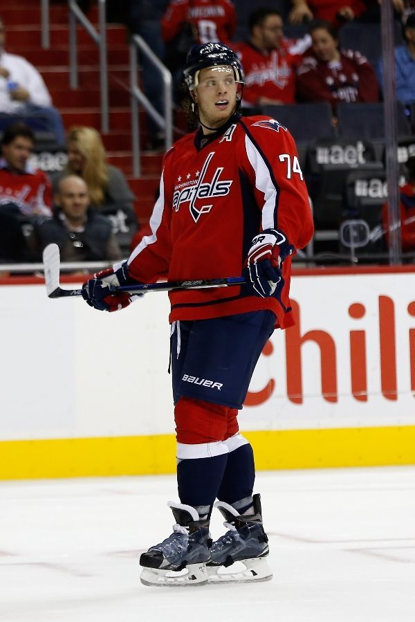 OCTOBER 13  John Carlson  74 of the Washington Capitals skates on the ice  during his 400th career game ea2eedc6175