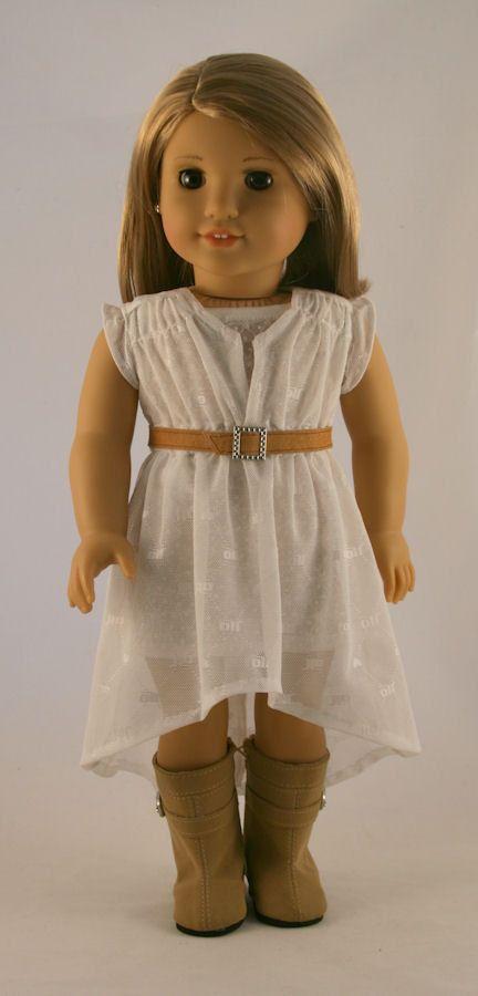 American Girl Doll Clothes -White Mesh Woomera Dress, Cardigan ...