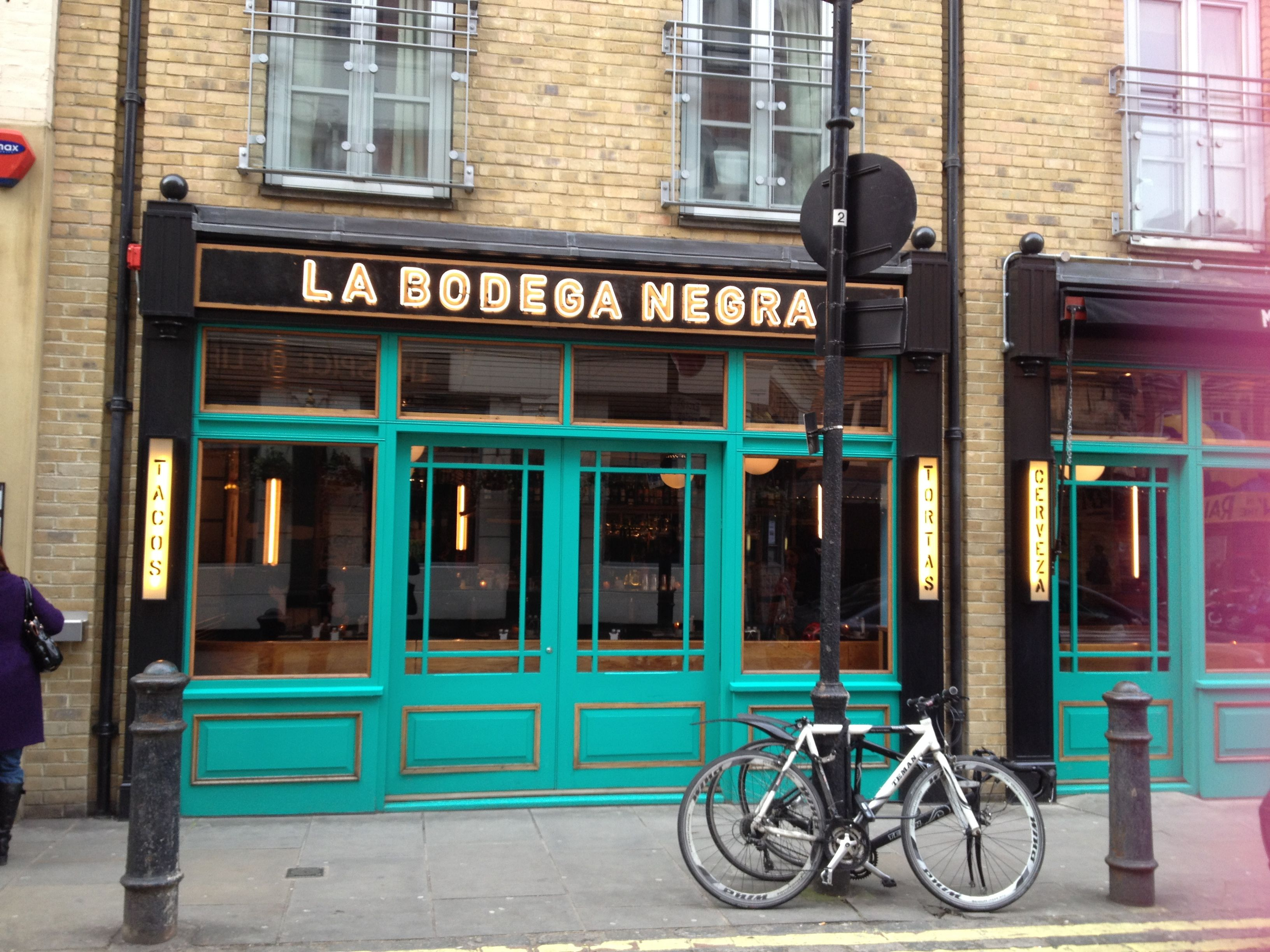 Bodegra Negra Mexican restaurant, looks really cool to try out Moor Street, Soho, London, W1