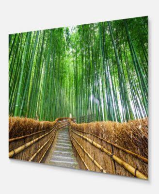 Design Art Designart Path To Bamboo Forest Landscape Photography