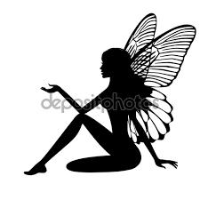 Afbeeldingsresultaat voor free fairy silhouette