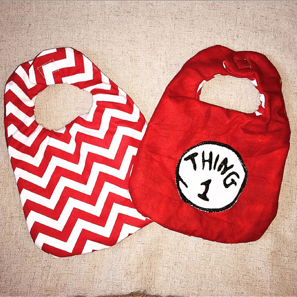 Thing thing chevron bibs handmade by the little black dog shoppe