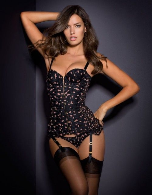 e72216dea3 Agent Provocateur Effie Corset Black and Pink