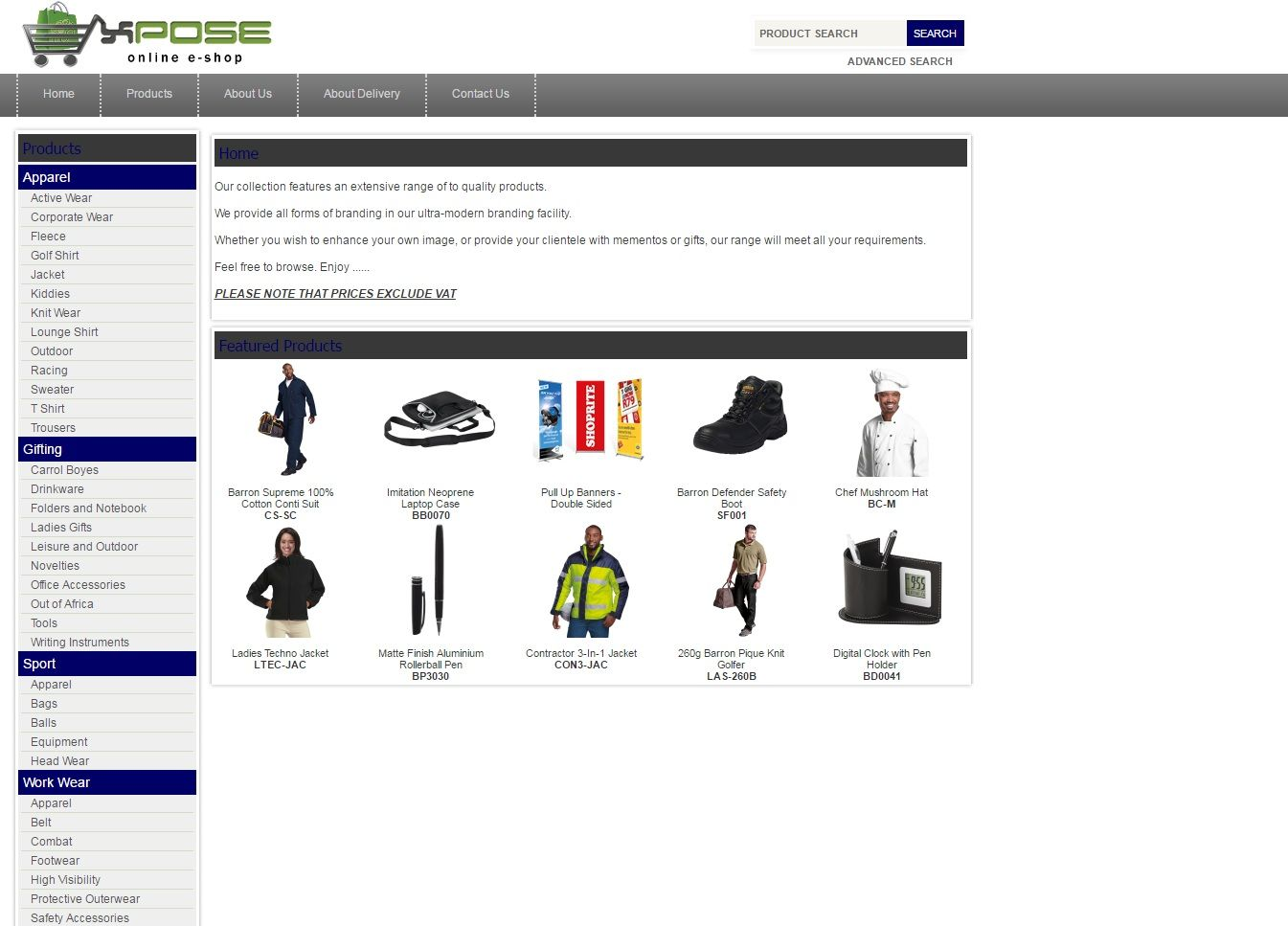 Xpose Online E-Store - (http://xpose.bcgshop.co.za/)