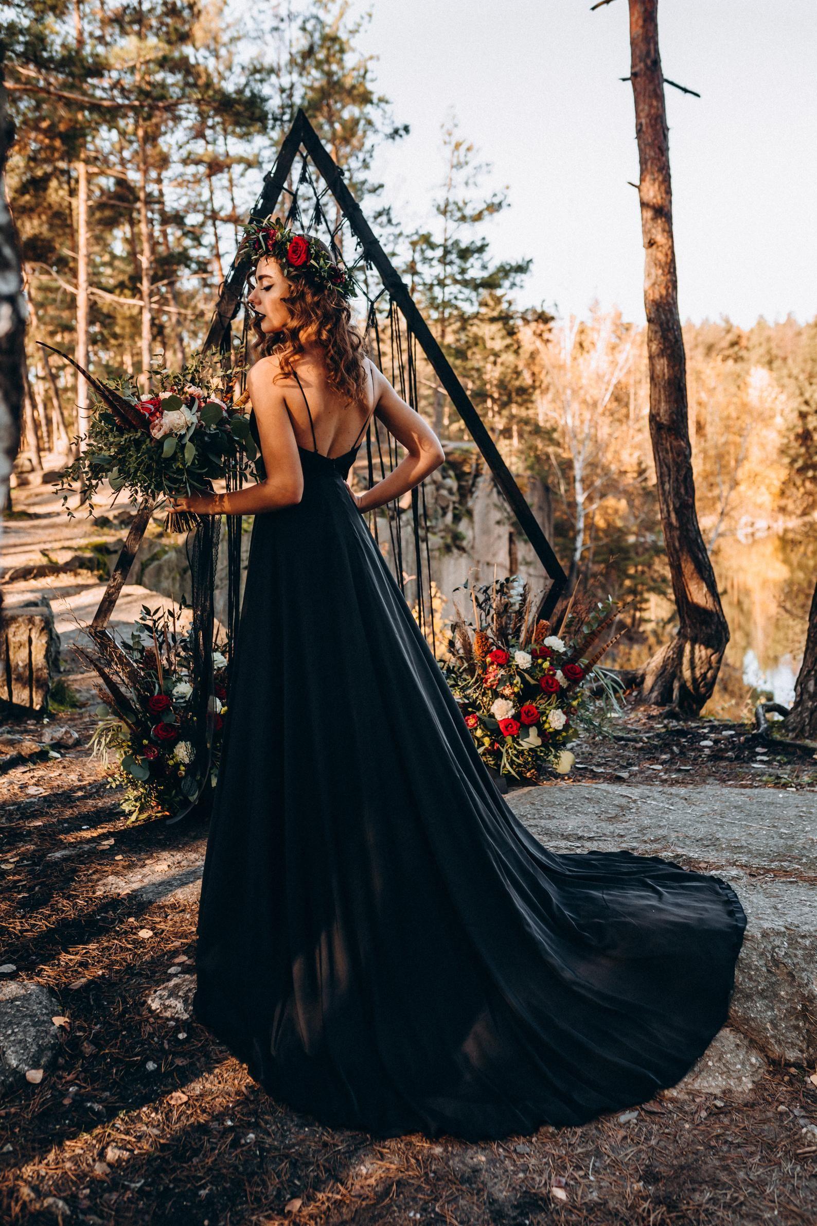 New Black Slip Dress With Huge Train Bridal Black Silk Satin Etsy Black Slip Dress Slip Dress Silk Gown [ 2382 x 1588 Pixel ]