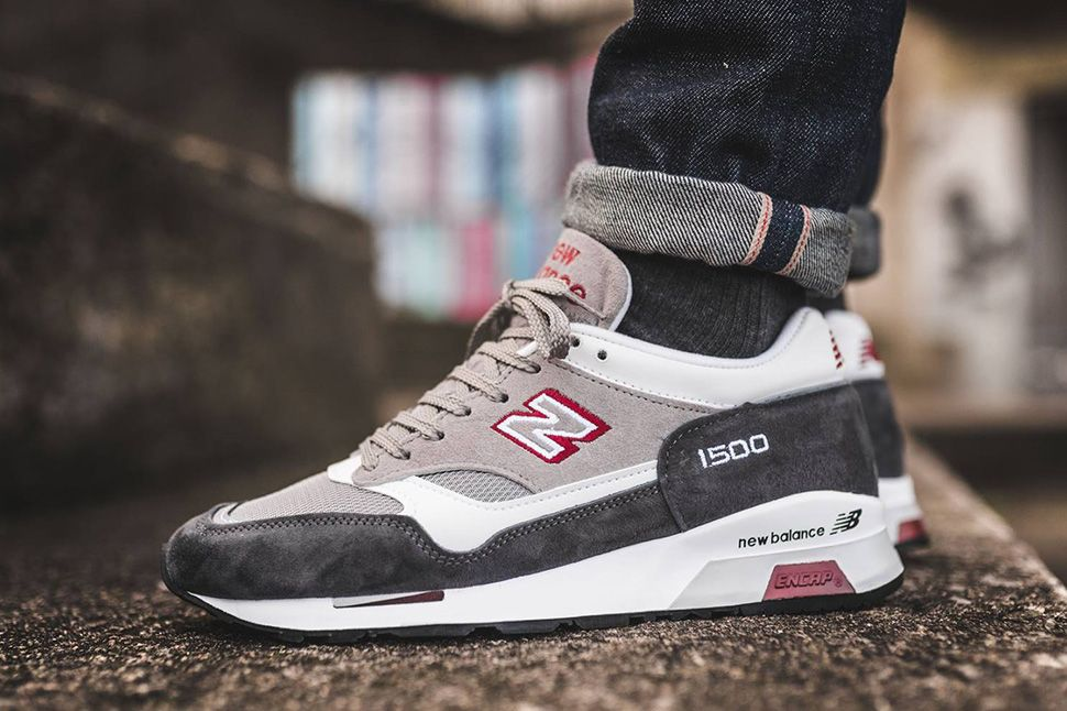 Shoes sneakers · Made in England New Balance 1500 in Grey, White & Red - EU  Kicks: