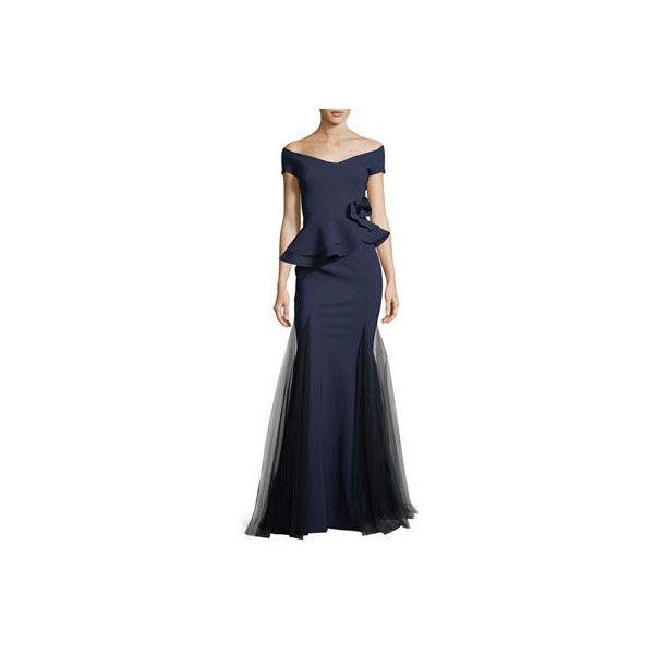 0f6427ac La Petite Robe Di Chiara Boni Lady Cap-Sleeve Peplum Mermaid Gown ($1,190)