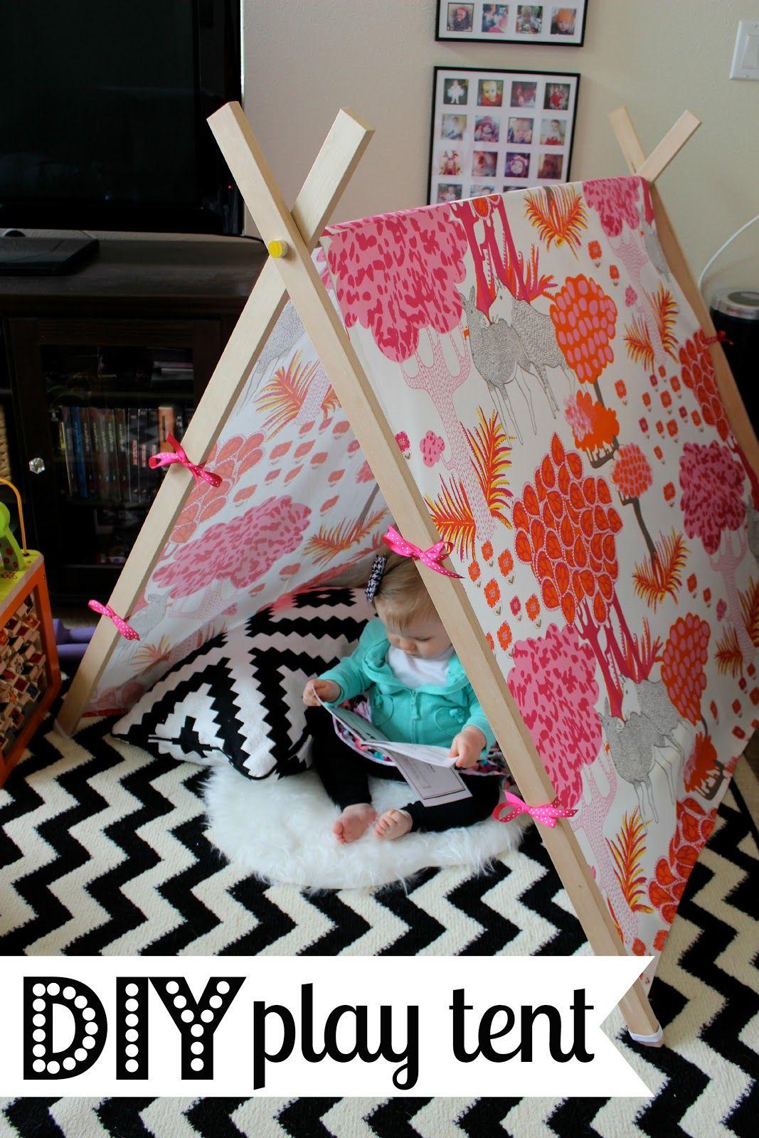 We G Three Finished DIY Play Tent Play tent, Diy tent, Diy
